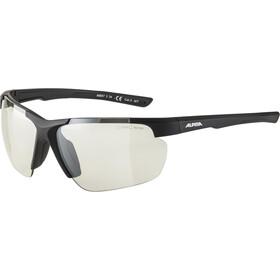 Alpina Defey HR Glasses black matt/clear mirror